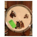 Ceramic horse plate