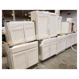 Salerno Slab Linen Kitchen Cabinets