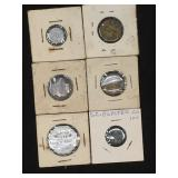 Various tokens/foreign coins