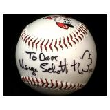 Collectible baseball Marge Schott autograph-not