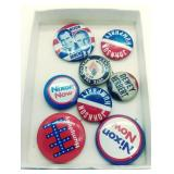 Interesting 8 political pins backs with 3rd party