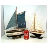 Wooden Decorative Sail Boats