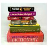 7 Books Websters Dictionary,  NutriBase Guide,