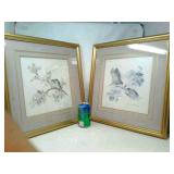 2 Framed Pictures, approx 17 1/2in x 17 1/2in