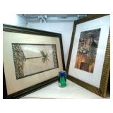 2 Framed Pictures approximately 19in x 23in and
