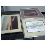 3 Framed Pictures,