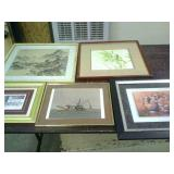 5 Framed Pictures