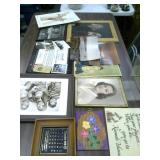 Variety of Framed Pictures,  Old Photos,