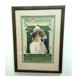 Framed January 1905 McCormick Harvesting Machines