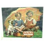 Framed Baby Ruth candy bar 2-sided jigsaw puzzle