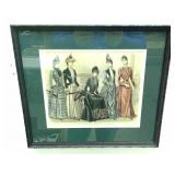 Framed vintage lithograph advertisement.