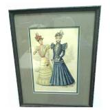 Framed advertisement for ladies apparel,  August,