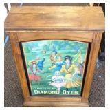 Display cabinet for Diamond Dyes.