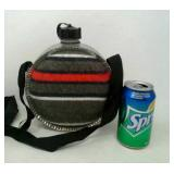 Plastic Water Canteen with Attached Strap