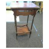 Vintage wood Stand/Table Approximately 15in x
