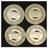 4 Green Line tokens