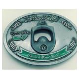 Bottoms up bottle opener belt buckle