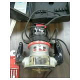 Craftsman 1 1/2 HP router, carrying case, and
