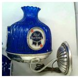 Vintage Pabst Blue Ribbon Wall Mount Lamps (2)