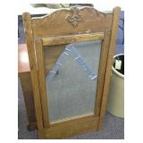 Antique Wood Framed  Mirror (mirror broke, wood