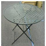 Metal Folding Table approximately 28in tall Top