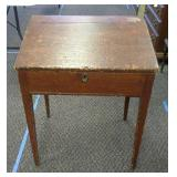 Vintage Wood Desk approximately 19in x 25in and