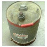5 Gallon galvanized gasoline can, missing a hook.