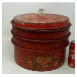Vintage stackable cake tins.