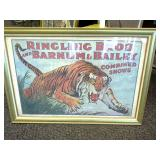 Ringing Bros and Barnum & Bailey Framed Poster
