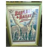 Barnum & Bailey Framed Poster Approximately 28in