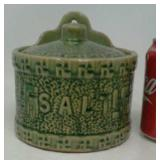 "Rare antique green/yellow swastika ""Good Luck"""