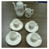 Porcelain and china children tea and dining sets.