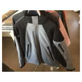 Two large jackets and one pair leather pants size
