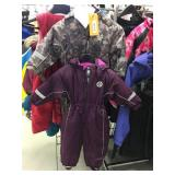 2 youth snow suits