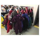 Chroma clothing rack on wheels