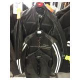 Ladies leather jacket size medium and men