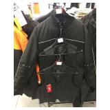 Jacket size large and two leather vests size