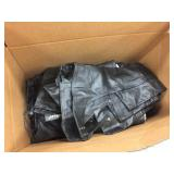 Assorted sized leather clothing