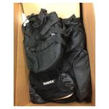 Box of storage bags & assorted duffel bags