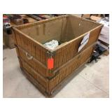 Wood box on wheels