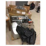 Contents of pallet-Raider ATV rack box , wheel