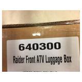 Raider front atv luggage box