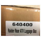 Raider rear atv luggage box