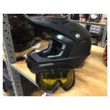 Fuller moto cross helmet with goggles size M