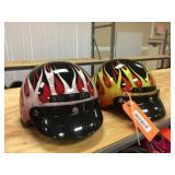 2 half coverage Raider helmets size L