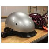 2 half coverage helmets size M