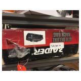 ATV rack bag with damage, wheel bracket for