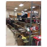 Metal shelving with (5) 8
