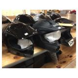 3 moto cross helmets size youth M & 2 of them are