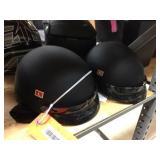 2 half coverage helmets size M & size L